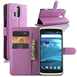 ZTE Axon Pro Case, Fettion Premium PU Leather Wallet Phone Cases Flip Cover with Stand Card Holder for ZTE Axon Pro Smartphone (Wallet - Purple)