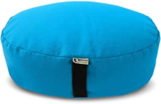 product image for Bean Products Zafu Meditation Cushion - Round & XL Oval - Handcrafted in The USA with Organic Materials - Removable Cover for Easy Cleaning - Filled with 100% Organic Millet