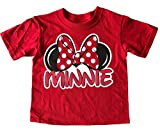 Disney Minnie Mouse Little Girls Toddler Family T Shirt (2T)