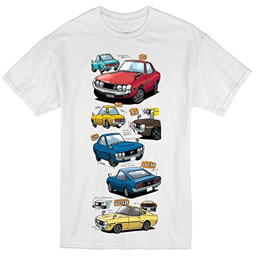 Price comparison product image Graphic Tees Celica Tribute - 100% Ring-Spun Cotton T-Shirt   Toyota   TEQ   JDM (Large)
