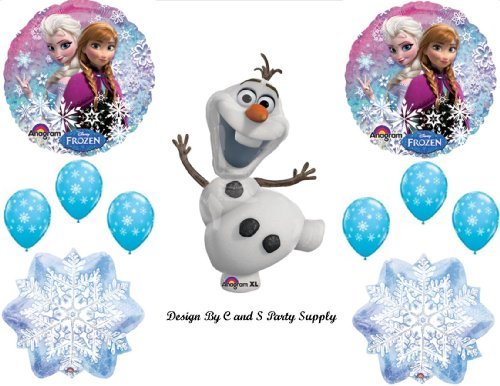 1 X Frozen Olaf #2 Snowman Disney Movie BIRTHDAY PARTY Balloons Decorations Supplies -