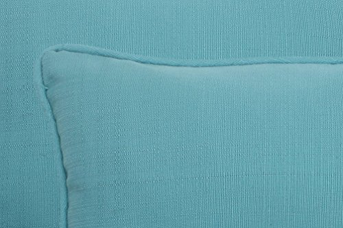 "Pillow Perfect Outdoor/Indoor Forsyth Pool Lumbar Pillows, 11.5"" x 18.5"", Turquoise, 2 Pack - Includes two (2) outdoor pillows, resists weather and fading in sunlight; Suitable for indoor and outdoor use Plush Fill - 100-percent polyester fiber filling Edges of outdoor pillows are trimmed with matching fabric and cord to sit perfectly on your outdoor patio furniture - patio, outdoor-throw-pillows, outdoor-decor - 51OwPzAz6SL -"