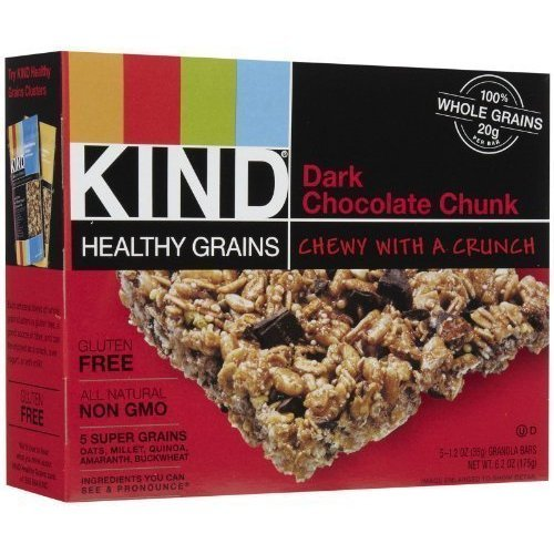 Kind Healthy Grains Granola Bars Dark Chocolate Chunk 5Ct (Pack Of 8) - Pack Of 8