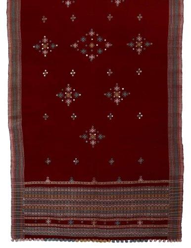 Indiennes accessoire en laine des femmes brodé châle fait main 213 X 91 cm