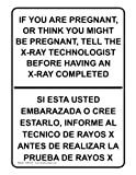 ComplianceSigns Plastic MRI / X-Ray / Microwave Sign, 10 x 7 in. with English + Spanish Text, White