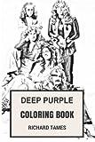 Deep Purple Coloring Book: English Rock ...