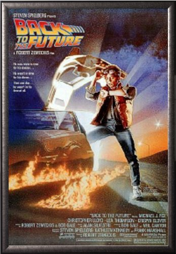Framed Back To The Future - Regular Style 24x36 Dry Mount Po