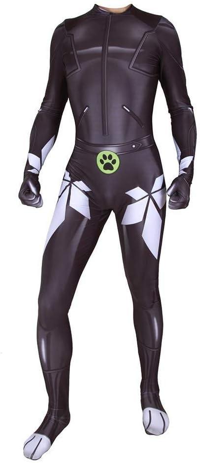 Adulto Cosplay Mariquita Gato Negro Disfraz Disfraz Navidad Mono ...