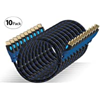 Aurum Ultra Series - High Speed HDMI Cable with Ethernet - 10 pack (12 FT) - Supports 3D & Audio Return Channel - Full HD [Latest Version] – 12 Feet - 10 pack