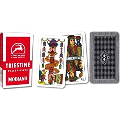 Triestine Regional Italian Playing Cards for Scopa and Briscola 99/25: Sports & Outdoors