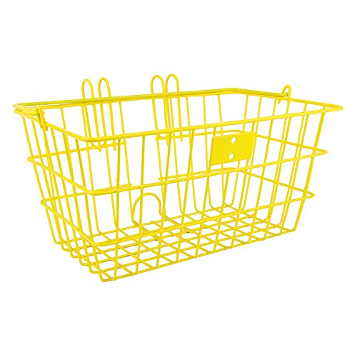 SunLite Wire Lift-Off Front Basket, Yellow (Yellow Bike With Basket)
