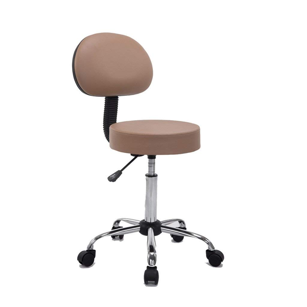 Beige Basics Multi-Purpose Office Drafting Spa Stool with Adjustable Foot Rest and Wheels