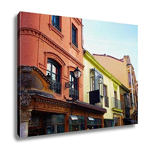 Ashley Canvas, Leon Calle Ancha Street Neat Cathedral At Castilla Spain, Home Decoration Office, Ready to Hang, 20x25, AG5479414 by Ashley Canvas