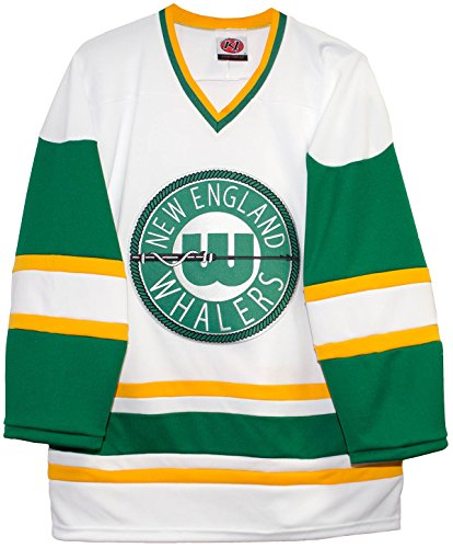K-1 Sportswear New England Whalers Home White Vintage WHA Hockey Jersey  (Small) 362d03919