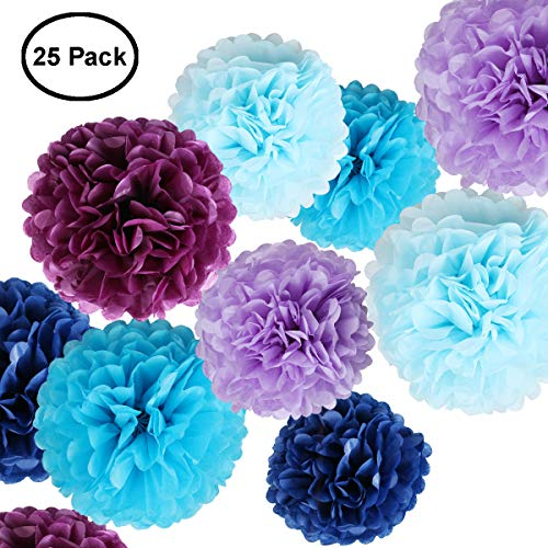 Tissue Paper Flowers - Paper Pom Poms for Crafts - Large Hanging Pom Poms for Party Decorations, Wedding Backdrop, Home D