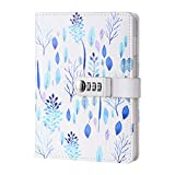 ToiM PU Leather Journal, A5 Secret Diary with Lock (Forest)