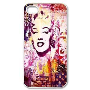 Marilyn Monroe Graffiti Seven Year Itch iPhone 4/4s Case For Women Protective, Case For Iphone 4 [White]