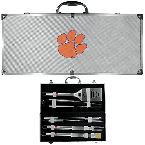Siskiyou NCAA Clemson Tigers 8 Piece BBQ Set w/Case