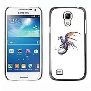 Ihec Tech Dragón de Fuego Gris Flying Wild Animal Mítico / Funda Case back Cover guard / for Samsung Galaxy S4 Mini i9190