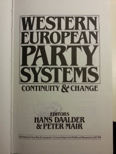 Western European Party Systems: Continuity and - European Party System