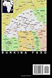 Modern Day Color Map of the Nation Burkina Faso in Africa Journal: Take Notes, Write Down Memories in this 150 Page Lined Journal
