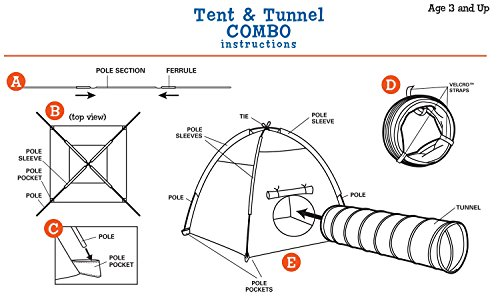 Pacific Play Tents Kids Safari Fun Dome Tent and Crawl Tunnel Combo for Indoor / Outdoor Fun
