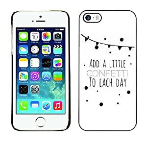 Soft Silicone Rubber Case Hard Cover Protective Accessory Compatible with Apple iPhone? 5 & 5S - quote sweet love life text minimalist clean