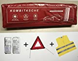 Vehicle First-Aid Box High-Visibility Jacket First Aid up to 4 / 2019 Combination Bag First Aid According to DIN 13164 + ECE Warning Triangle + EN High-Visibility Jacket