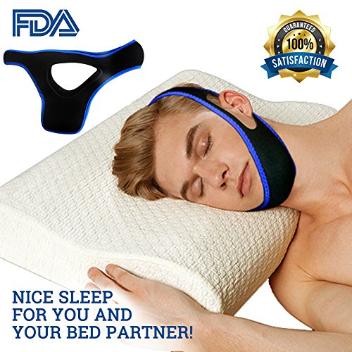 Anti snoring Chin Strap Device as Snore Stop Sleep aids Solution - Adjustable Snore Stopper for Women & Men (Triangle) by Woolegogo