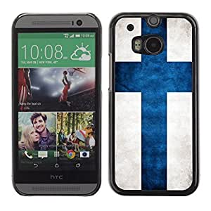 Shell-Star ( National Flag Series-Finland ) Snap On Hard Protective Case For All New HTC One (M8)