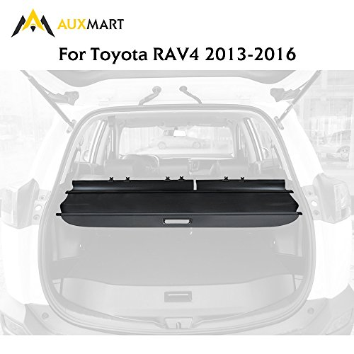 AUXMART Cargo Cover Security Rear Trunk Cover Security Retractable Shield for Toyota Rav4 2013 2014 2015 2016 (Prius Cargo Cover)