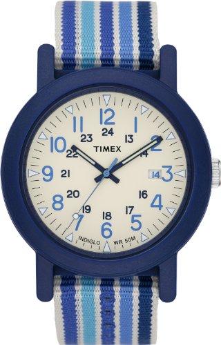 Timex Originals T2N492 Mens Originals White Dial Blue Fabric Strap (Timex Camper Band)