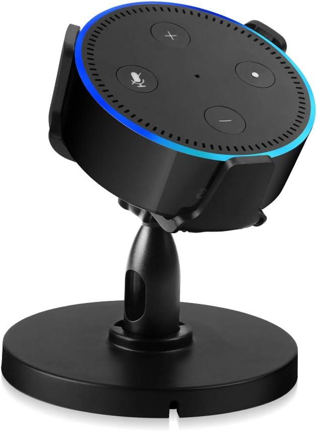 HLOMOM Table Stand Holder for Dot 2nd Generation, 360° Adjustable Desktop Stand Mount/Bracket Mount for Smart Home Speaker Assistant, Improve Sound Visibility & Appearance