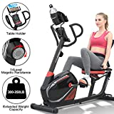HARISON Recumbent Exercise Bike Stationary with 14 Level Magnetic Resistance, Tablet Holder, RPM, Wide Seat, and Pulse Rate Monitoring...