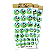 Udderly Cute Cow Removable Matte Sticker Sheets Set