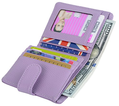 YALUXE Womens Compact Bifold Leather