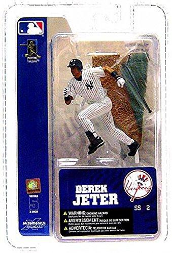 Derek Jeter Road Jersey - McFarlane Toys MLB 3 Inch Sports Picks Series 5 Mini Figure Derek Jeter 2 (NY Yankees)