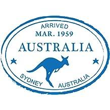 "Sydney Australia Kangaroo Travel Retro Adventure Passport Stamp Car Bumper Sticker Decal 5"" x 4"""