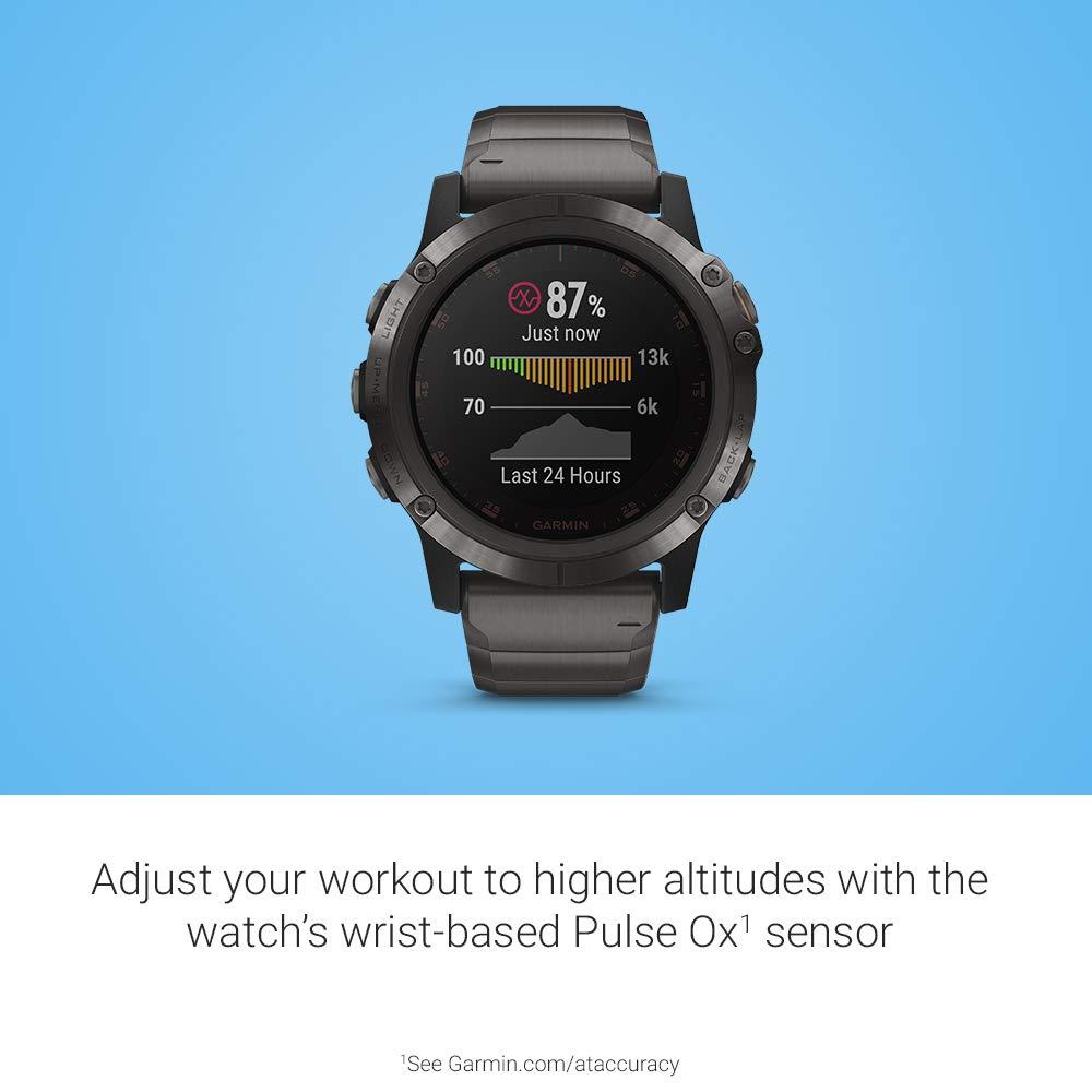 Amazon.com: Garmin fēnix 5X Plus - Ultimate Multisport Watch with ...