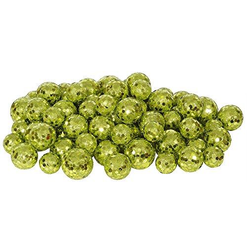 Green Glitter Ball - Vickerman 60ct Kiwi Green Sequin and Glitter Christmas Ball Decorations 0.8
