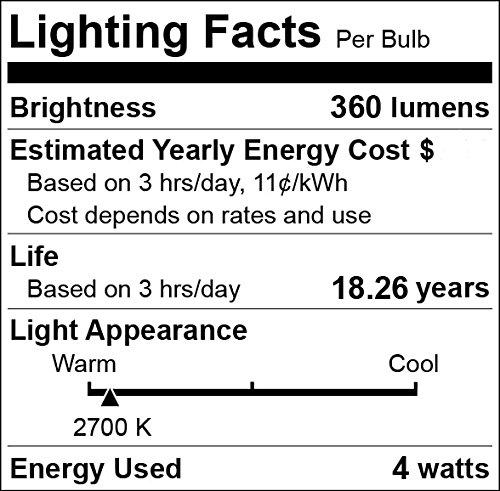 6 Pack DC 12 Volt T30 7.2'' Glass Tube Tubular Warm White 2700k 4W LED Edison Filament Light Bulb E26 Medium Base Lamp Luxury Camping Glamping Tent Teepee Interior Vintage Off Grid Solar Lighting DC12V by 12Vmonster (Image #1)