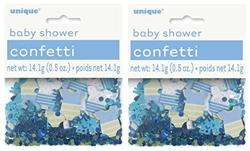 Blue Polka Dot Boy Baby Shower Confetti 2 Pack