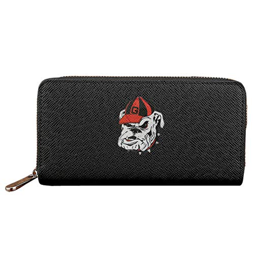 Georgia Bulldogs Logo Women Wallet Pu Leather Clutch Zipper Long Holder ()