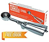 1 2 cup muffin scoop - Munlex 18/8 Stainless Steel Professional Cookie Scoop for baking, Cupcake Muffin Batter Dispenser, Cookie Dough Scooper, Medium Size, Silver Color, 5-YEAR Warranty
