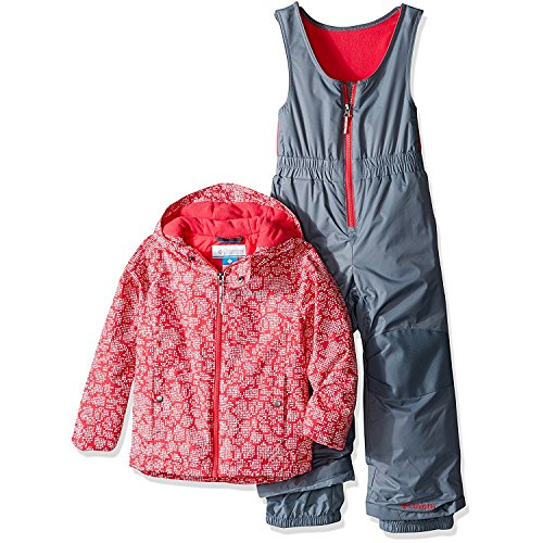Columbia Little Girls' Frosty Slope Set, Punch Pink Floral, X-Small by Columbia