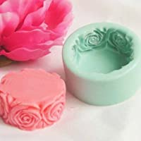JoyGlobal Silicone 3D Rose Flower Handmade Soap Candle Mould Soap/Wax Weight: 70 Grams ± 5grams)