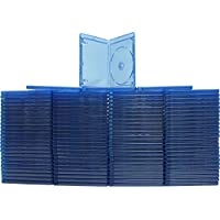 BRBR12BL-S - 12mm Standard Blu Ray Replacement Cases - Screenprint Logo - (100 Pack)