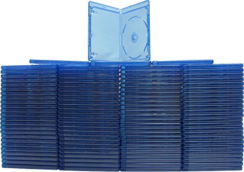 100 Empty Standard Blue Replacement Boxes / Cases for Blu-Ray Disc Movies #DVBR12BR SUPERMEDIASTORE Qty: 100