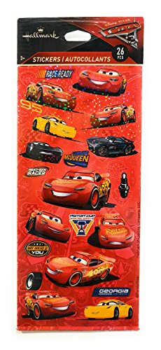 Disney Cars 3 Stickers - 2 Sheets - 26 Stickers