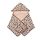 Yomiokla Bathroom Accessories - Bathroom Metal Towel Ring Shawls Drying Cap to Wipe Your Hair Fast-Drying Turban Super Absorbent Adult Shower Cap and wash and Dry Your Towels Leopard